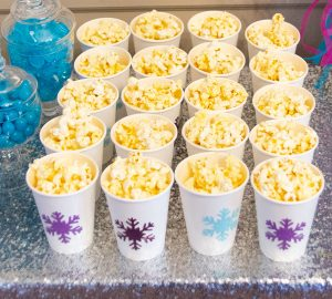 Birthday Party Snack Idea with Popcorn Cups